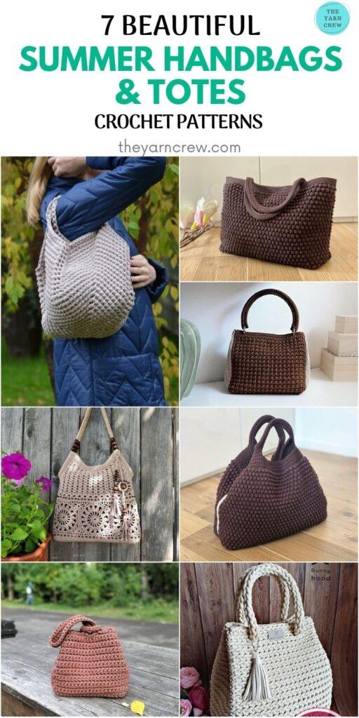 7 Beautiful Summer Handbags & Totes Crochet Patterns PIN 2