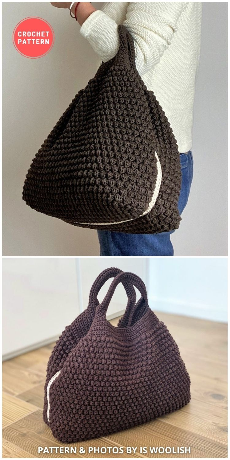 Arcadia Tote Bag Crochet Bag Pattern - 7 Gorgeous Summer Handbags & Totes You Can Easily Crochet FB Poster