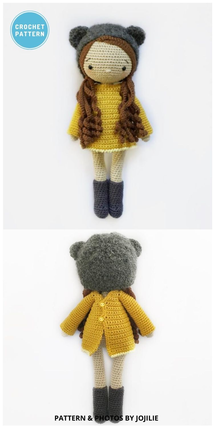 Autumn the Bear Girl - 14 Best Amigurumi Dragon Crochet Patterns To Make For Your Little One PIN