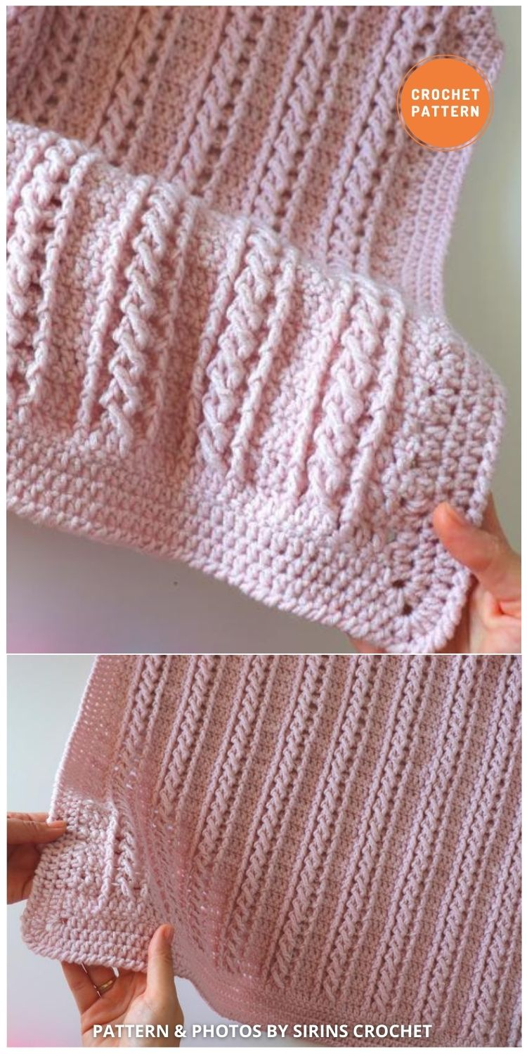 Cable Blanket - 15 Quick & Easy Modern Crochet Blankets & Throws