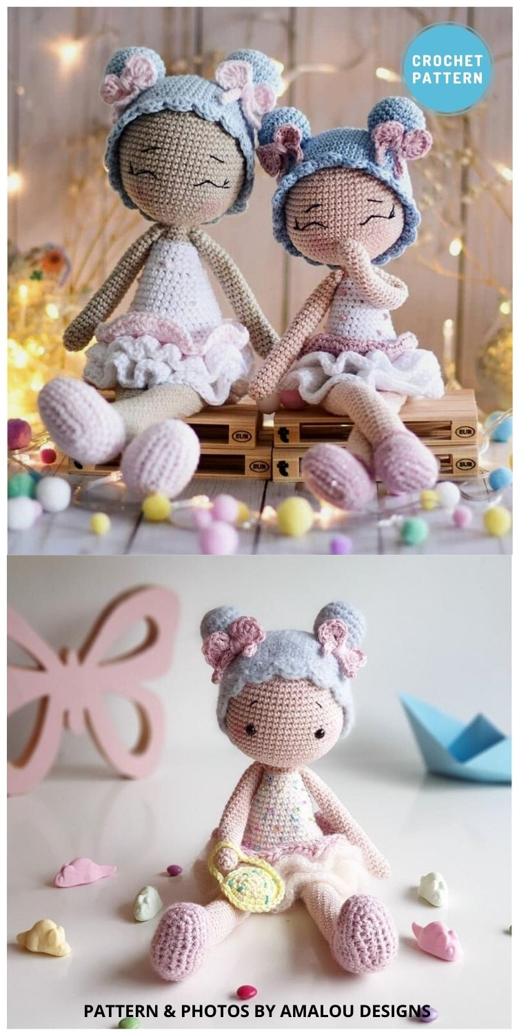Candy Girl - 14 Best Amigurumi Dragon Crochet Patterns To Make For Your Little One PIN