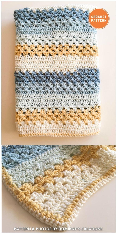 Carter Baby Blanket - 15 Quick & Easy Modern Crochet Blankets & Throws (1)