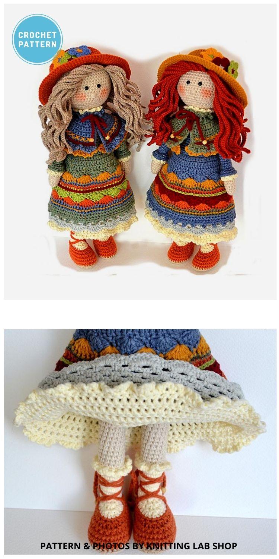 Crochet Girl Doll NASTASSJA - 14 Best Amigurumi Dragon Crochet Patterns To Make For Your Little One PIN