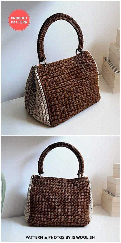 Crochet Purse Woman Bag - 7 Gorgeous Summer Handbags & Totes You Can Easily Crochet FB Poster