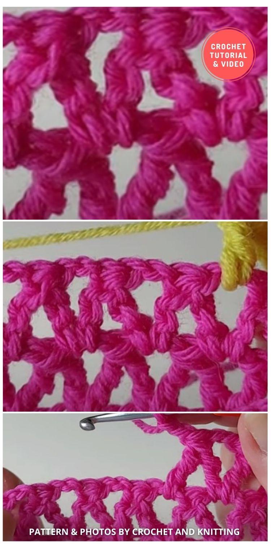 Crochet V-stitch using trebles - 12 Different Crochet V Stitch Pattern Variations For Blankets