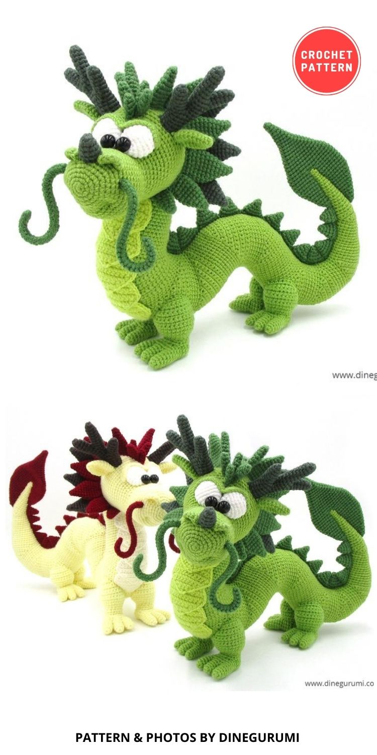 Dragon Lóng - 14 Best Amigurumi Dragon Crochet Patterns To Make For Your Little One BLOG PIN