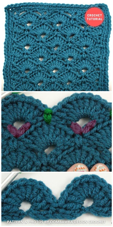 Fan And V Stitch - 12 Different Crochet V Stitch Pattern Variations For Blankets