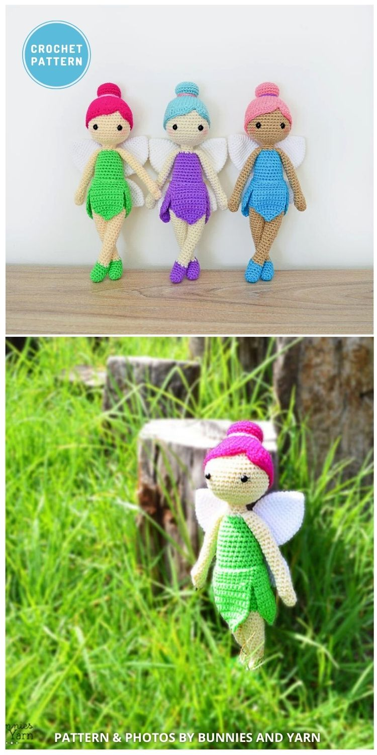 Felicia the Fairy Doll - 14 Best Amigurumi Dragon Crochet Patterns To Make For Your Little One PIN