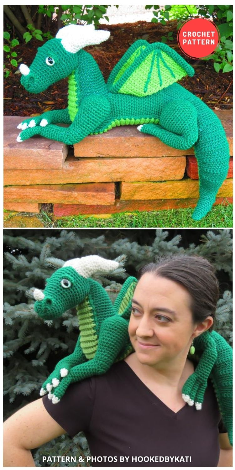 Large Dragon Amigurumi - 14 Best Amigurumi Dragon Crochet Patterns To Make For Your Little One BLOG PIN