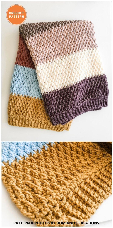 Larkin Baby Blanket - 15 Quick & Easy Modern Crochet Blankets & Throws