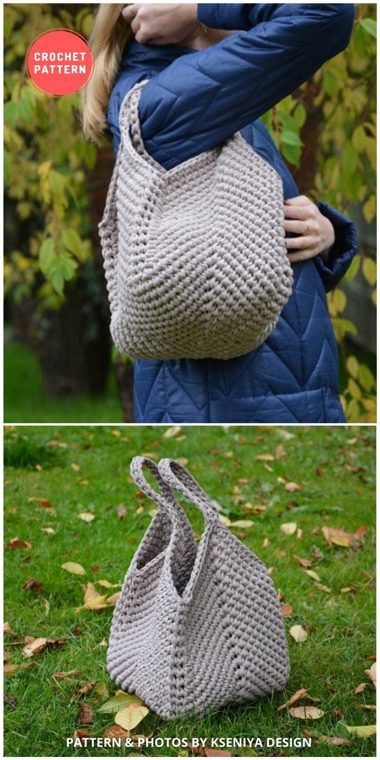 Market Tote Bag Pattern - 7 Gorgeous Summer Handbags & Totes You Can Easily Crochet FB Poster