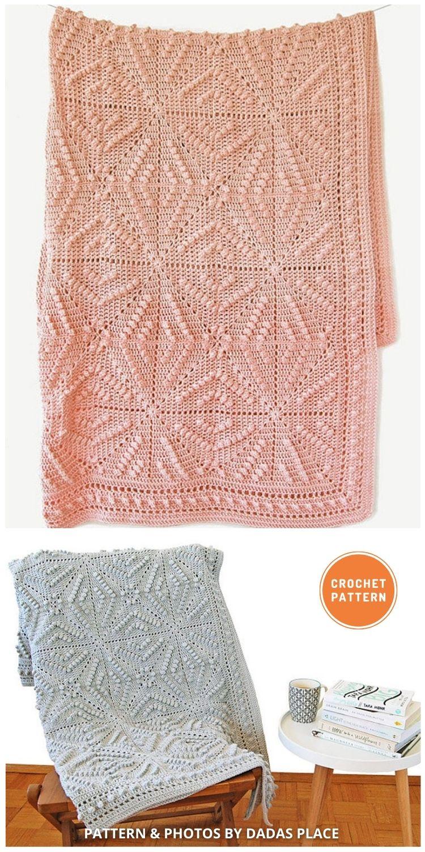 Menya Blanket - 15 Quick & Easy Modern Crochet Blankets & Throws