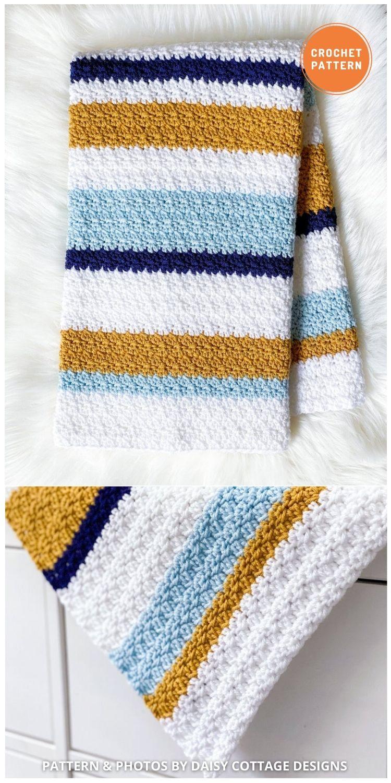 Modern Crochet Blanket - 15 Quick & Easy Modern Crochet Blankets & Throws