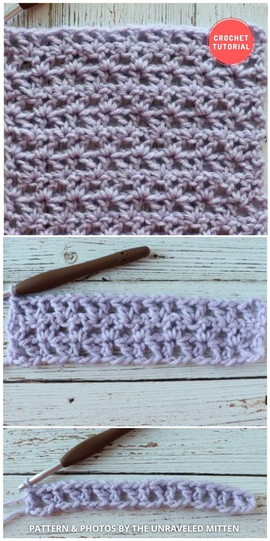 _Offset V-Stitch Crochet Tutorial - 12 Different Crochet V Stitch Pattern Variations For Blankets