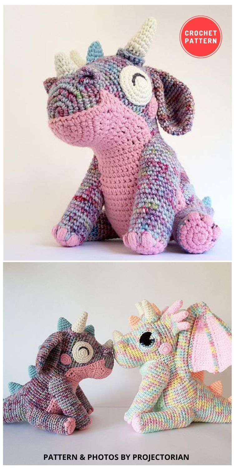 Orbit the Dragon Bundle Pack - 14 Best Amigurumi Dragon Crochet Patterns To Make For Your Little One BLOG PIN