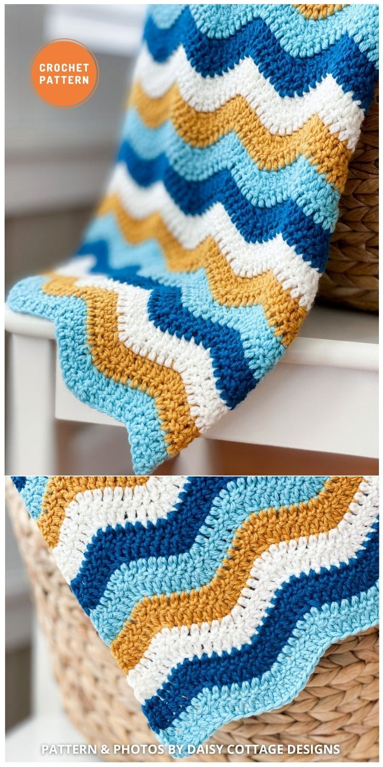 Quick and Easy Crochet Blanket - 15 Quick & Easy Modern Crochet Blankets & Throws