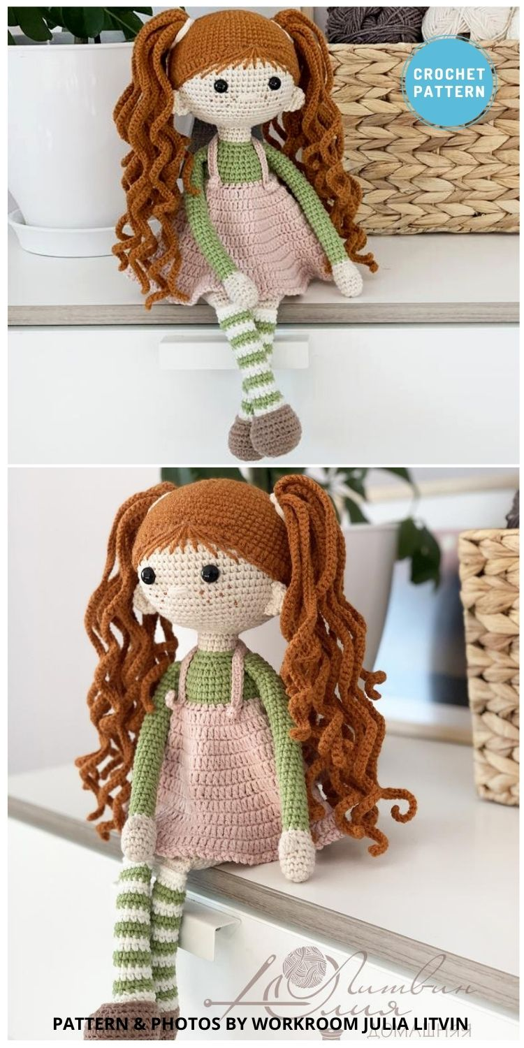 Red-haired Girl - 14 Best Amigurumi Dragon Crochet Patterns To Make For Your Little One PIN