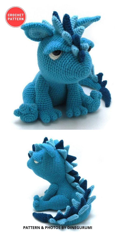 Spikey - Amigurumi Crochet Pattern - 14 Best Amigurumi Dragon Crochet Patterns To Make For Your Little One BLOG PIN