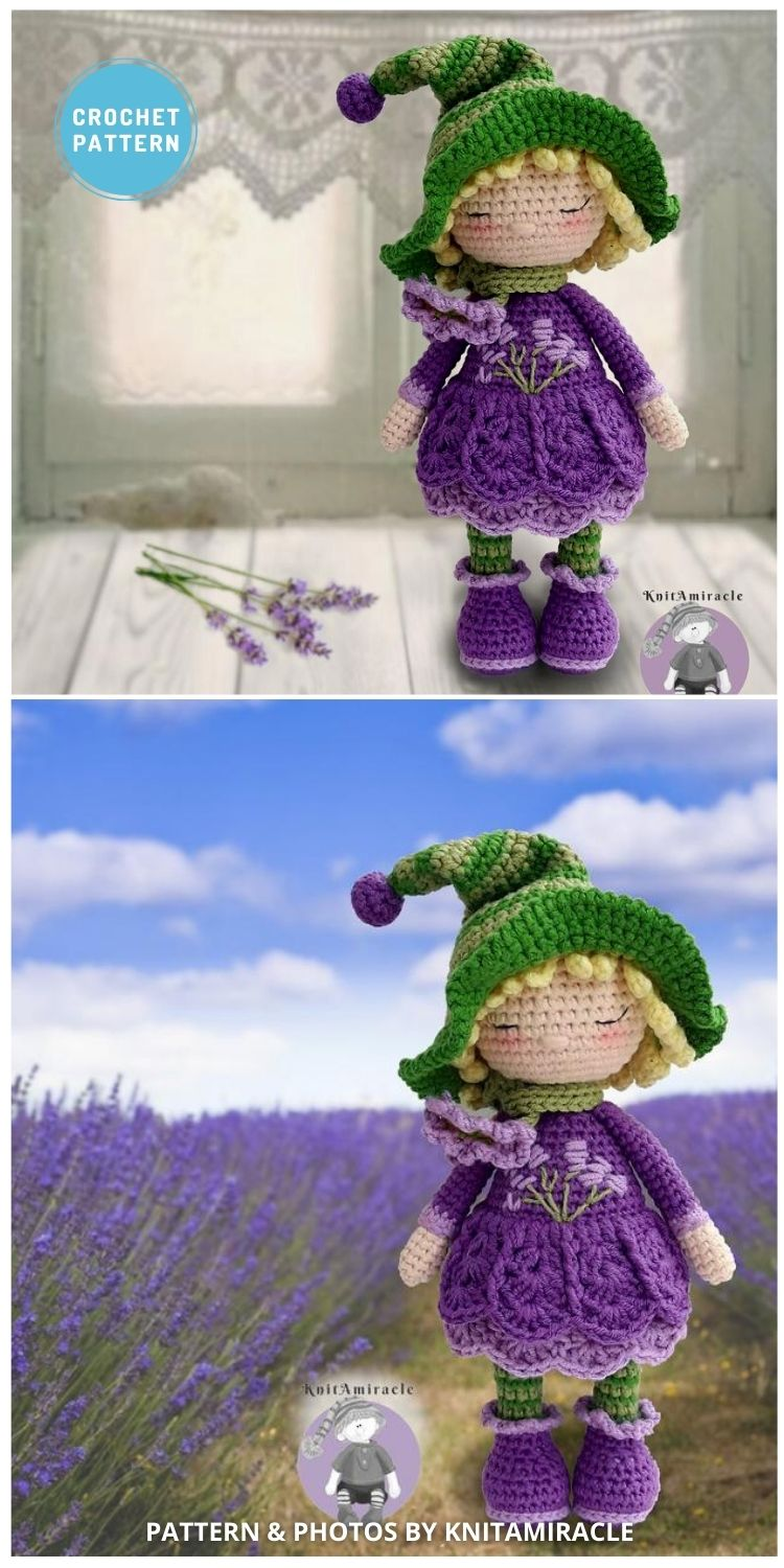 Sue, the Lavender Girl - 14 Best Amigurumi Dragon Crochet Patterns To Make For Your Little One PIN