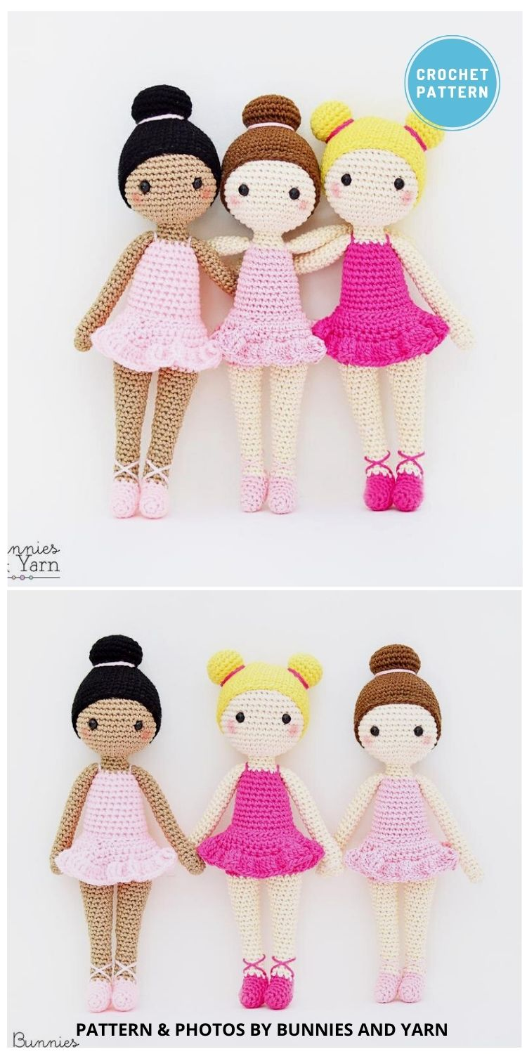 Tracey the Ballerina Doll - 14 Best Amigurumi Dragon Crochet Patterns To Make For Your Little One PIN