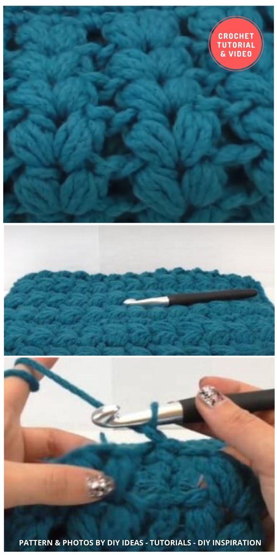 V-Shaped Puff Stitch - 12 Different Crochet V Stitch Pattern Variations For Blankets