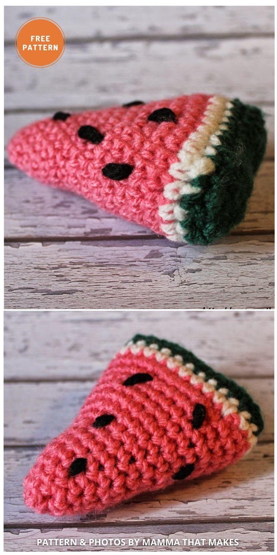 Watermelon - 10 Cutest Free Amigurumi Watermelon Crochet Patterns (1)