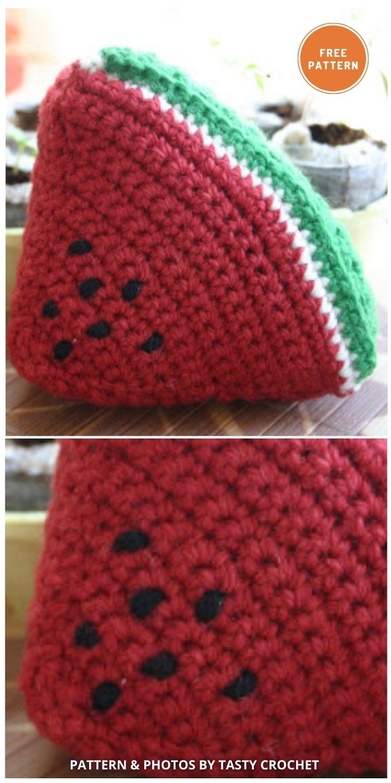 Watermelon - 10 Cutest Free Amigurumi Watermelon Crochet Patterns