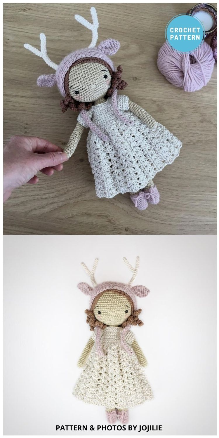 Winter the Deer Girl - 14 Best Amigurumi Dragon Crochet Patterns To Make For Your Little One PIN