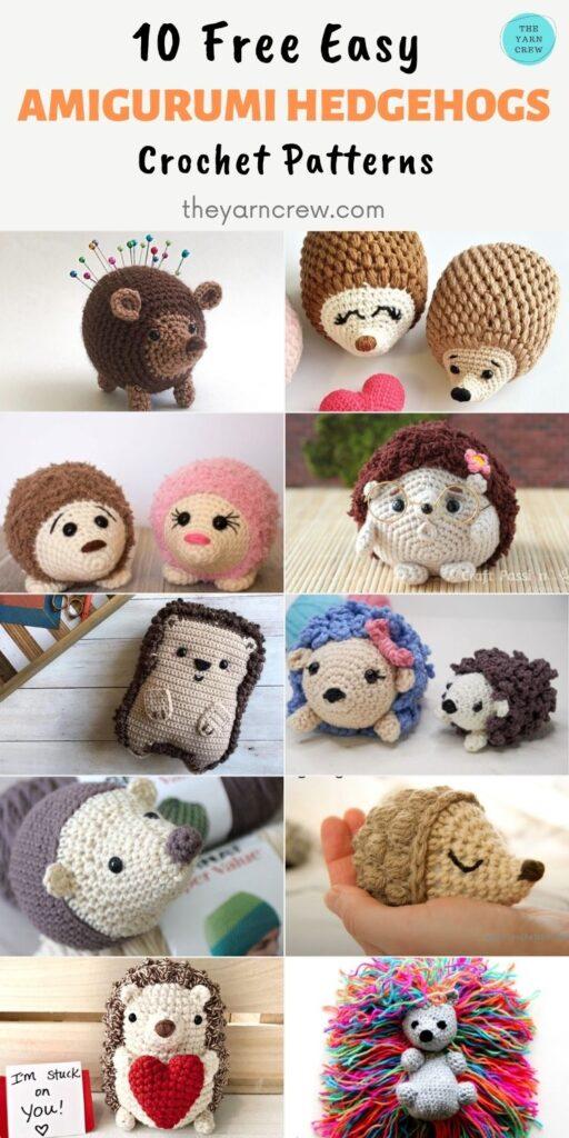 10 Free Easy Amigurumi Hedgehogs Crochet Patterns PIN 2