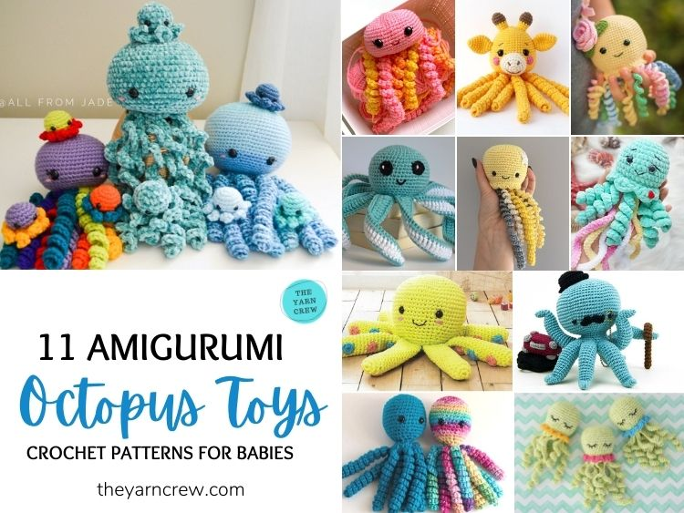 11 Amigurumi Octopus Toys Crochet Patterns For Babies FB POSTER (1)