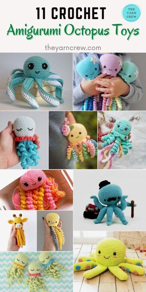 11 Crochet Amigurumi Octopus Toys PIN 2