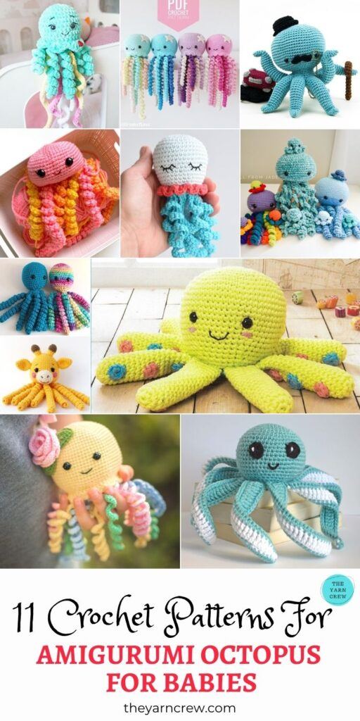 11 Crochet Patterns For Amigurumi Octopus For Babies PIN 3