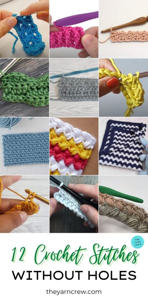 12 Crochet Stitches Without Holes PIN 3