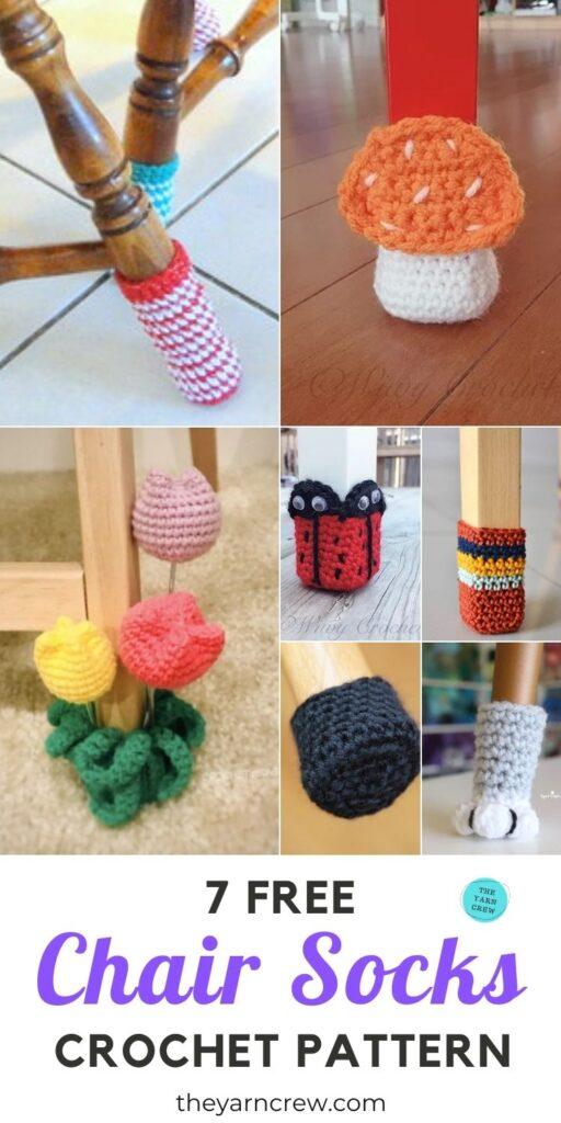7 Free Chair Socks Crochet Pattern PIN 3