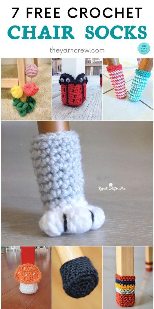 7 Free Crochet Chair Socks PIN 2