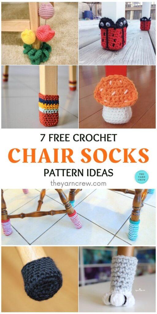 7 Free Crochet Chair Socks Pattern Ideas PIN 1