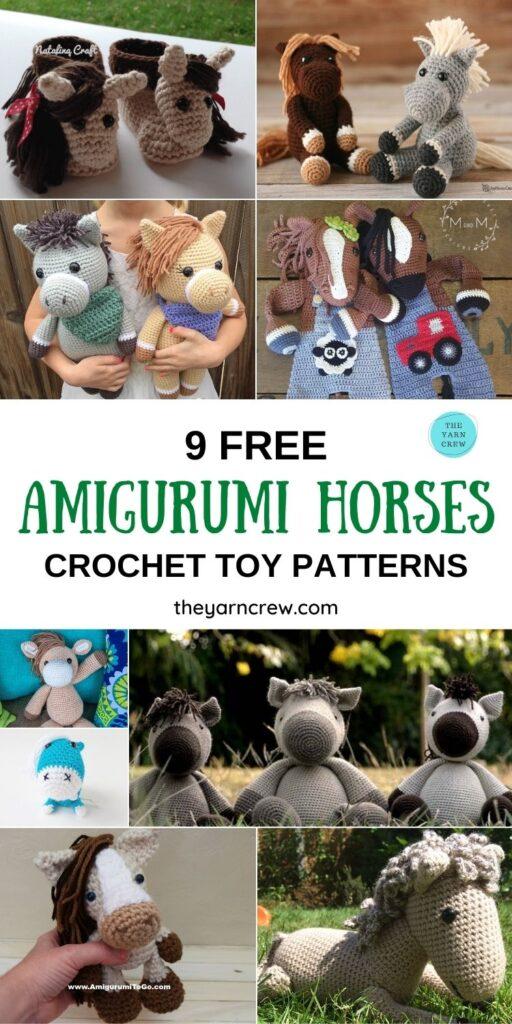 9 Free Amigurumi Horses Crochet Toy Patterns PIN 1
