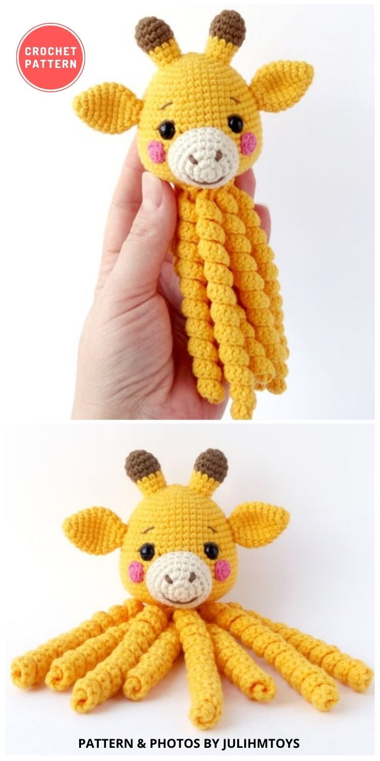 Amigurumi Giraffe Octopus - 11 Amigurumi Octopus Toys Crochet Patterns For Babies PIN