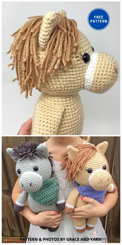 Amigurumi Horse and Donkey - 9 Free Amigurumi Horses Crochet Toy Patterns