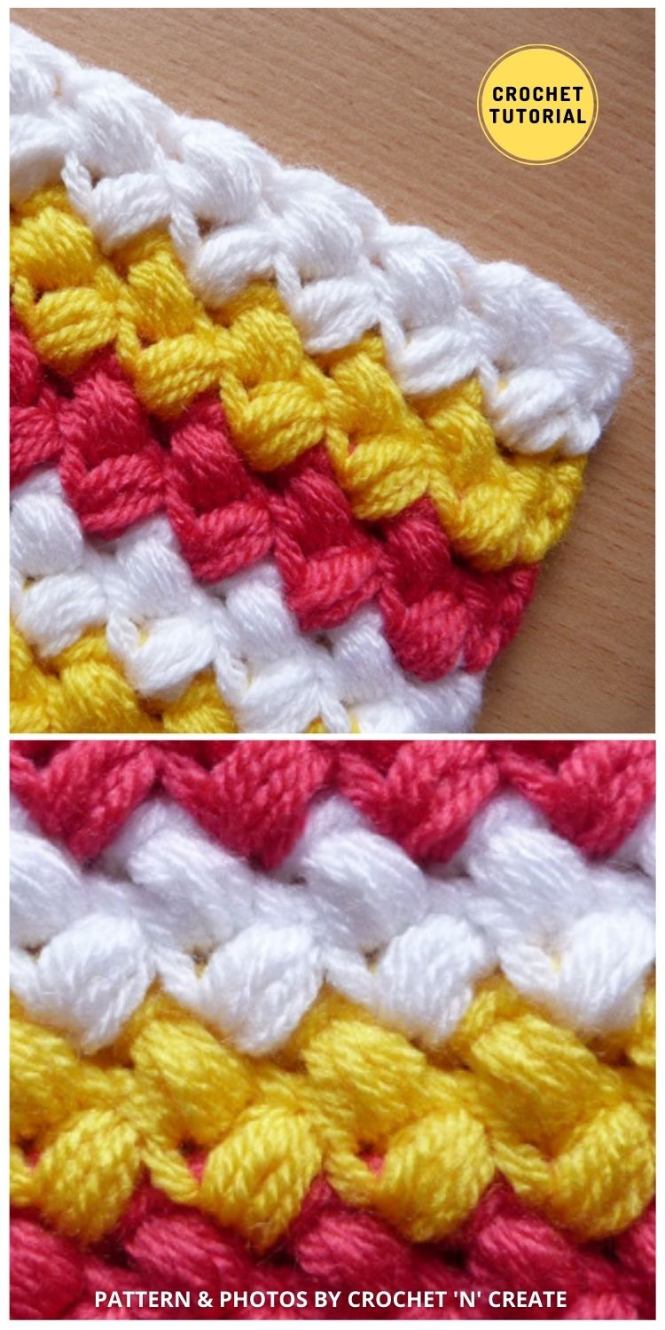 Bean Stitch - 12 Easy Crochet Stitches Without Holes