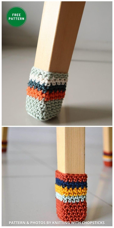 Chair Socks - 7 Free Crochet Chair Socks Pattern Ideas