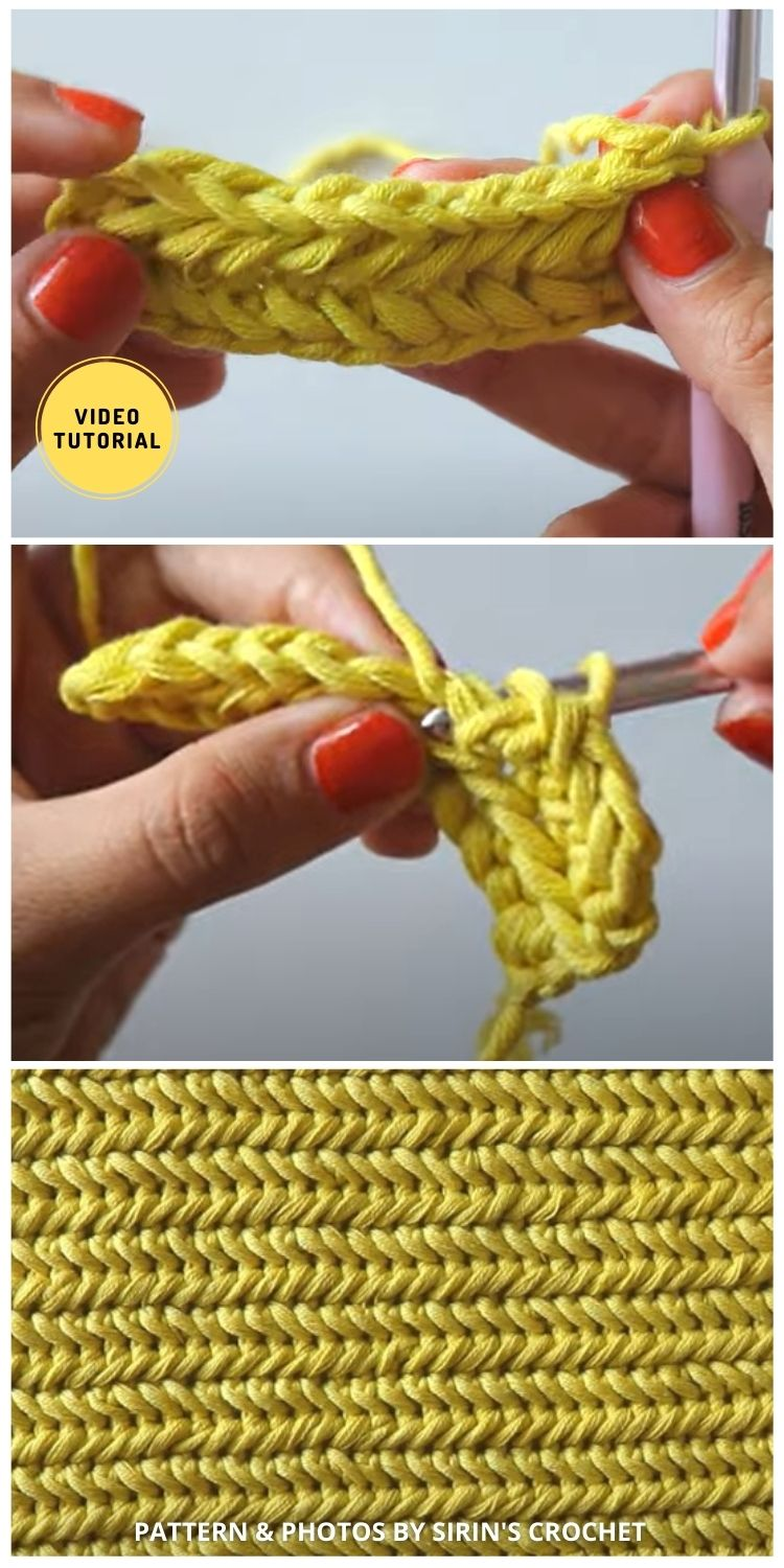 Crochet Heringbone Blanket Stitch - 12 Easy Crochet Stitches Without Holes