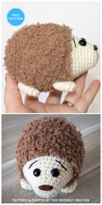 Hedgehog - 10 Free Crochet Hedgehogs Easy Amigurumi Patterns PIN (1)