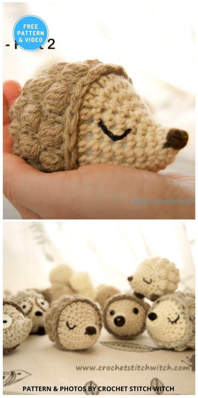 Hedgehog - 10 Free Crochet Hedgehogs Easy Amigurumi Patterns PIN (3)