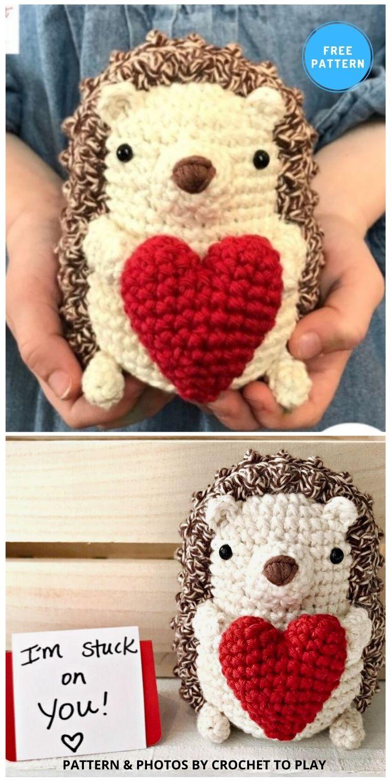 Hedgehog - 10 Free Crochet Hedgehogs Easy Amigurumi Patterns PIN