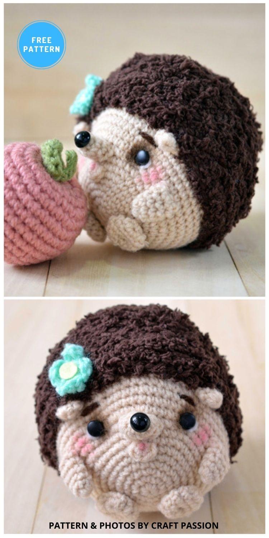 Hedgehog Amigurumi - 10 Free Crochet Hedgehogs Easy Amigurumi Patterns PIN