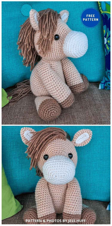 Heidi the Horse - 9 Free Amigurumi Horses Crochet Toy Patterns