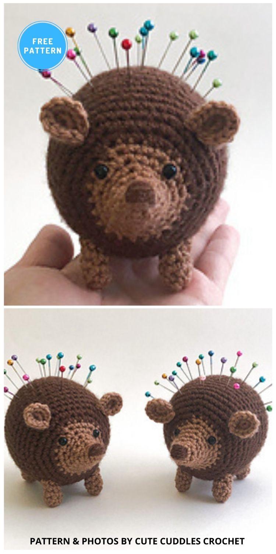 Henrietta the Hedgehog - 10 Free Crochet Hedgehogs Easy Amigurumi Patterns PIN