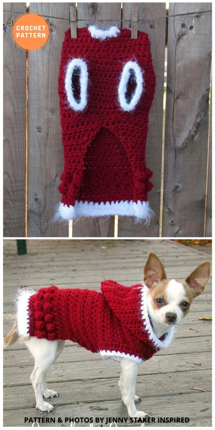 Hooded Dog Sweater - 12 Awesome Crochet Dog Sweaters For All Sizes