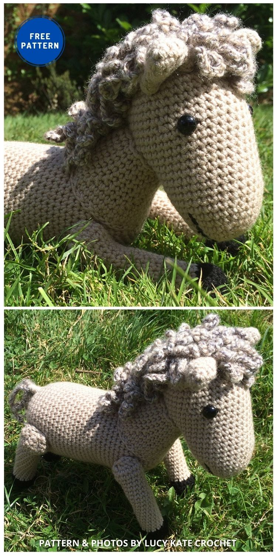 Horse - 9 Free Amigurumi Horses Crochet Toy Patterns (1)